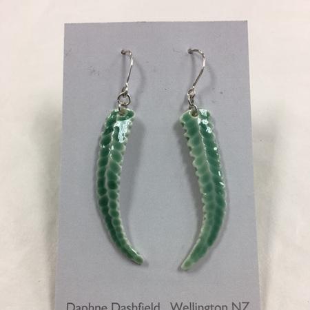 Earrings - Fern - Green