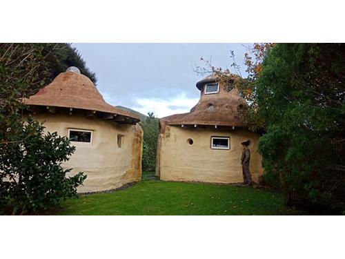 Earth bag huts