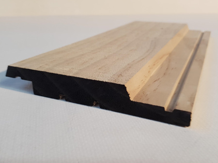 Earthen Radiata Cladding Bevel Shiplap Bandsawn Face 135x20mm