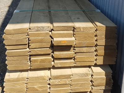 Earthen Radiata Exterior H4 Retaining Wall - 6.0m lengths
