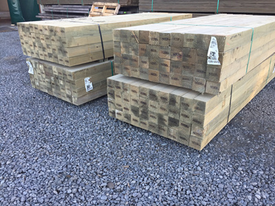 Earthen Radiata Exterior H4 Rough Sawn 100x100mm Posts - 2.7m lengths