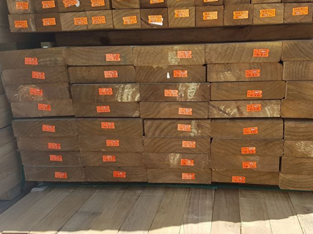 Earthen Radiata Exterior H4 Rough Sawn 200x50mm - 6.0m lengths