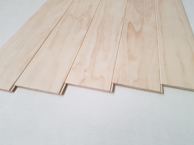 Earthen Radiata Interior Panelling 135x9mm reversible profile