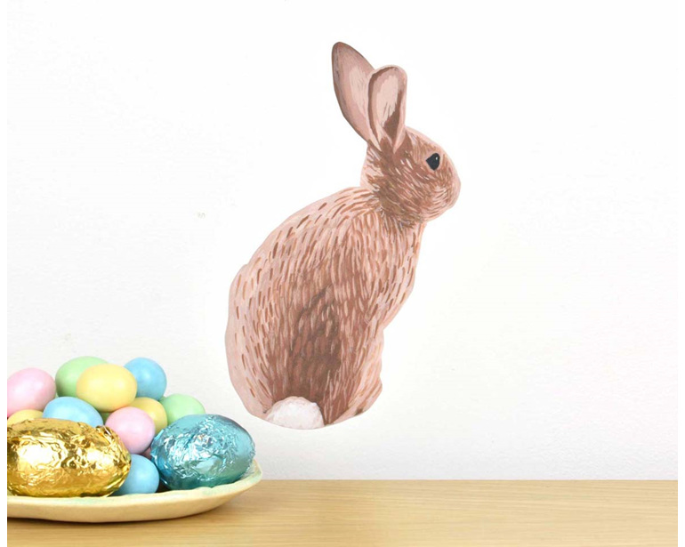 Easter bunny wall decal