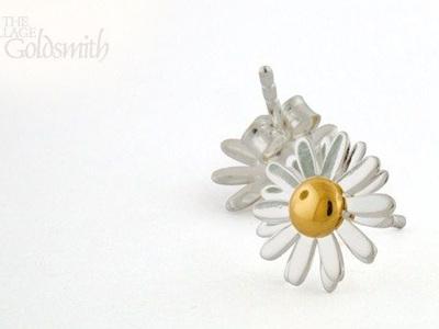 Easter Daisy Stud Earrings