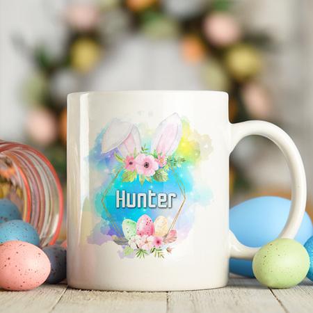 Easter Personalised Bunny Ears Mug
