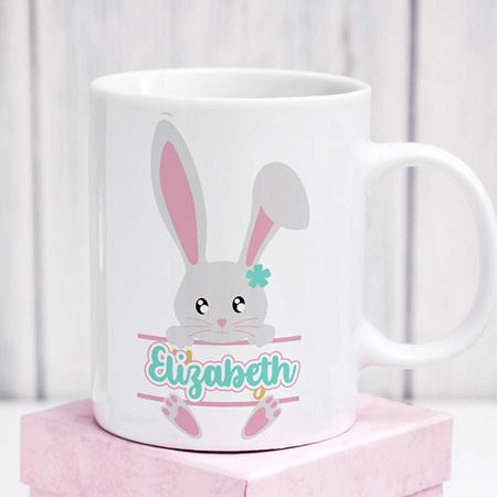 Easter Personalised  Bunny Mug