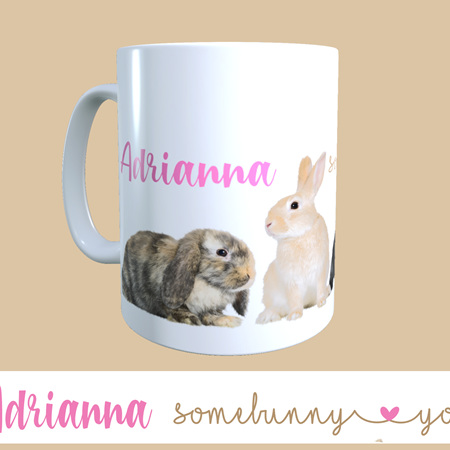 Easter Personalised Somebunny Loves You Mug