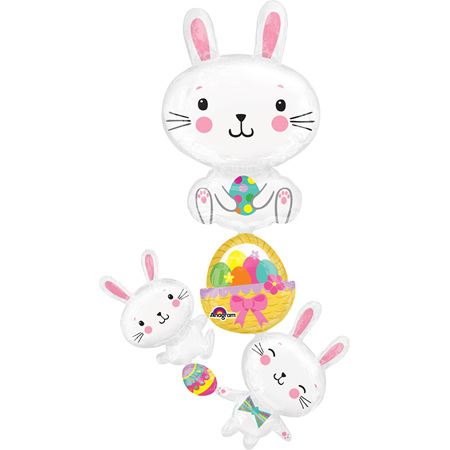 Easter supershape bunny & eggs balloon - over 5foot!
