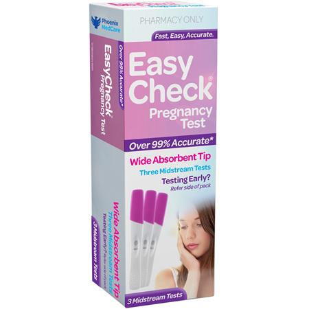 EasyCheck Pregnancy Test 3 Pack