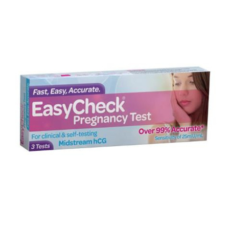 EASYCHECK PREGNANCY TEST 3PK PURPLE