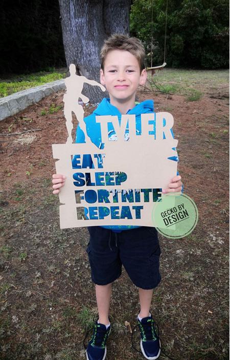 Eat Sleep ... Repeat - custom sign