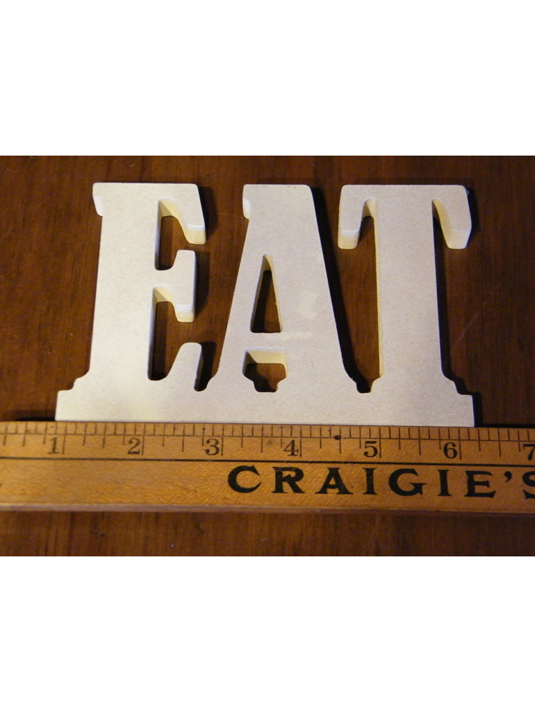 eat table sign for wedding and event hire