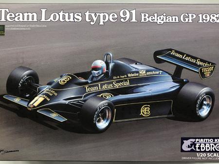 Ebbro 1/20 Team Lotus type 91 Belgian GP 1982
