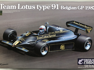 Ebbro 1/20 Team Lotus type 91 Belgian GP 1982