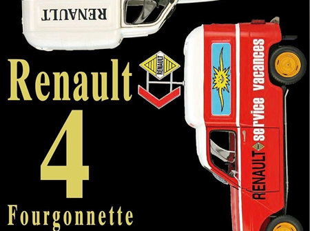 Ebbro 1/24 Renault 4 Fourgonette Service Car