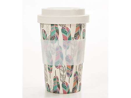 ECO CHIC Bamboo Cup Beige Feather