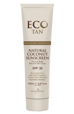 Eco Tan Natural Coconut Sunscreen - Untinted 150ml