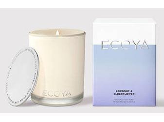 Ecoya Collection.Coconut & Elderflower Candle 400g/14.1oz