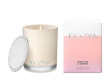 Ecoya Collection.Sweet Pea & Jasmine Candle 400g/14.1oz