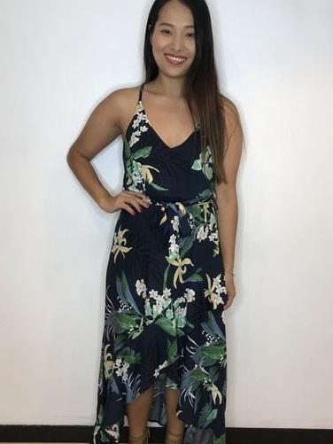 Edi Tropical Tie Dress