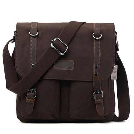Edison Waxed Canvas Messenger Bag