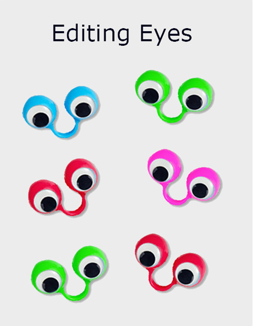 Editing Eyes -keep your students focused -  available from Edify