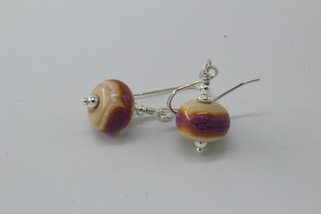 EDP earrings - EDP stripe on Opal Yellow