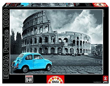 Educa 1000 Piece Jigsaw Puzzle: Coliseum Rome Black & White