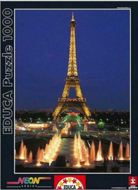 Educa 1000 Piece Jigsaw Puzzle: Eiffel Tower Paris - Neon