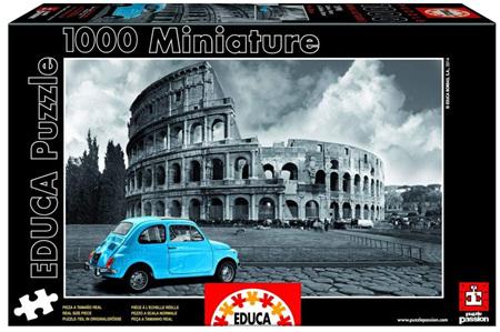 Educa 1000 Piece Jigsaw Puzzle: Miniature Series Puzzle - Coliseum Rome