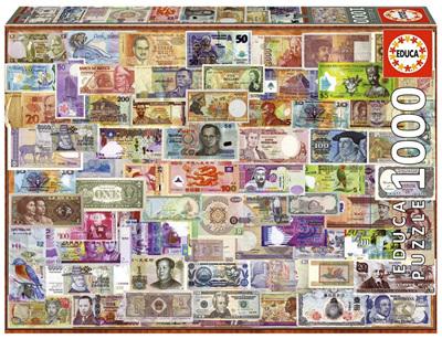 Educa  1000 Piece Jigsaw Puzzle: World Bank Notes