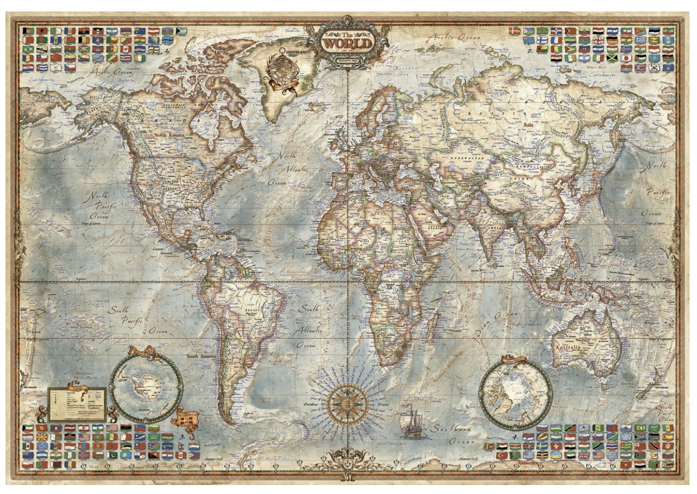 . educa  piece jigsaw puzzle political map of the world  puzzlesnz