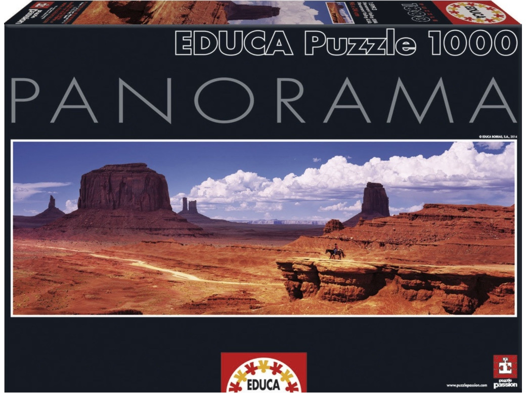 Educa 15993 1000 Piece Super Panorama Jigsaw Puzzle 'Monument Valley USA'