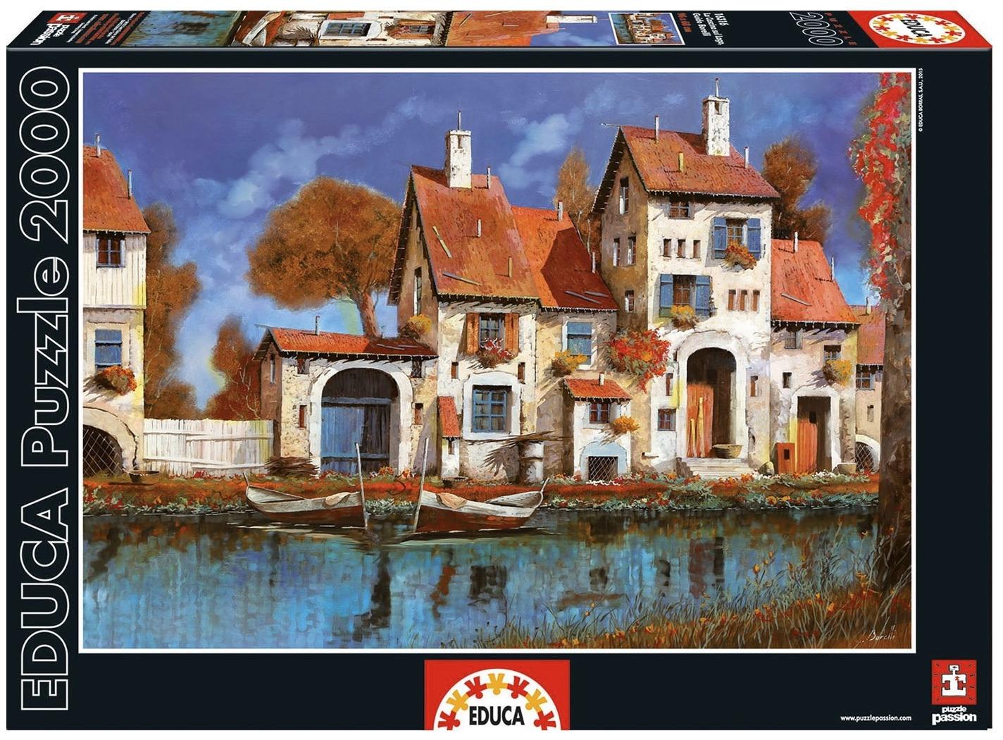 61cd9539c8656 Educa 2000 Piece Jigsaw Puzzle La Cascina Sul Lago - PuzzlesNZ
