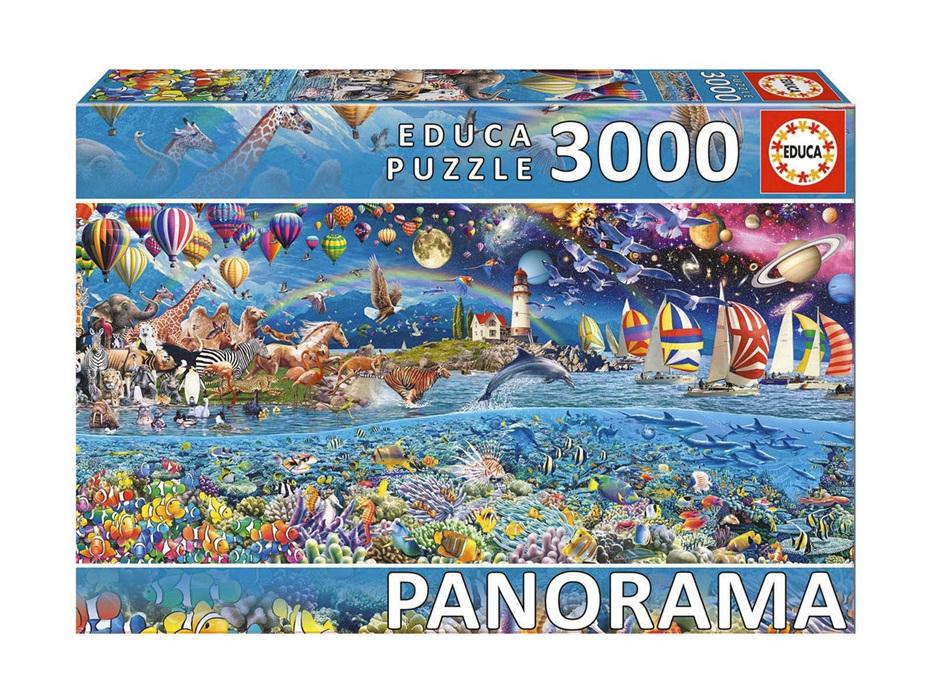 Educa 3000 Piece Jigsaw Puzzle: Life Panorama