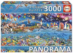 Educa  3000 Piece Jigsaw Puzzle: Life (Fragment) Panorama