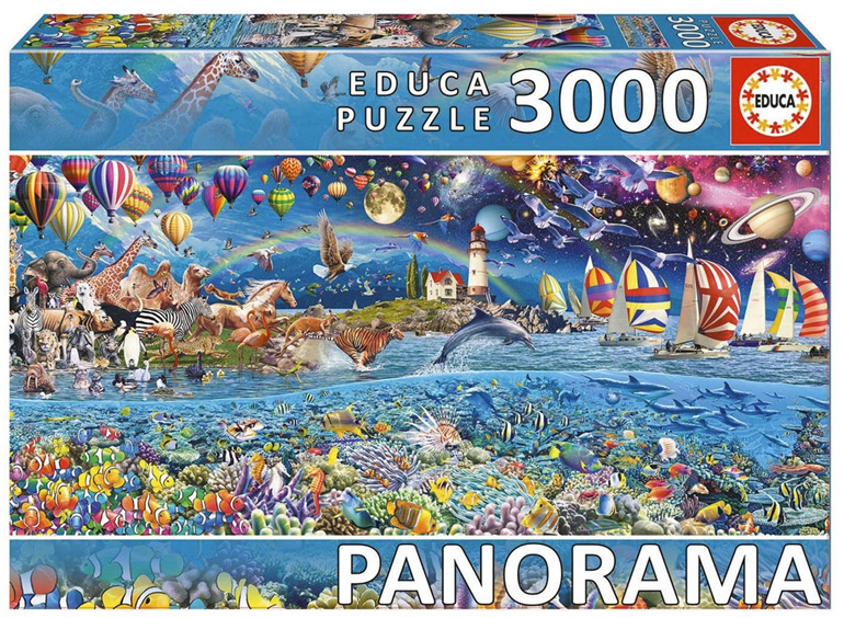 Educa 3000 piece jigsaw puzzle Life Panorama Buy at www.puzzlesnz.co.nz