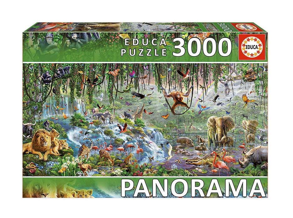 Educa 3000 Piece Jigsaw Puzzle: Wildlife Panorama