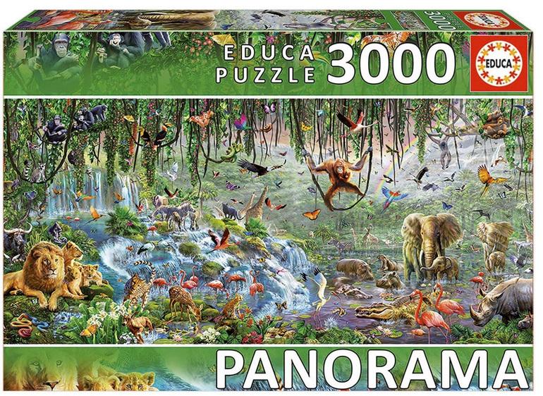 Educa 3000 piece jigsaw puzzle Wildlife Panorama Buy at www.puzzlesnz.co.nz