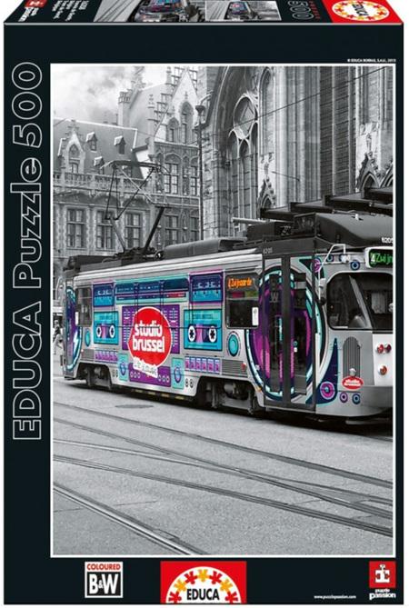 Educa 500 Piece Jigsaw Puzzle:  Ghents Tram - Belgium
