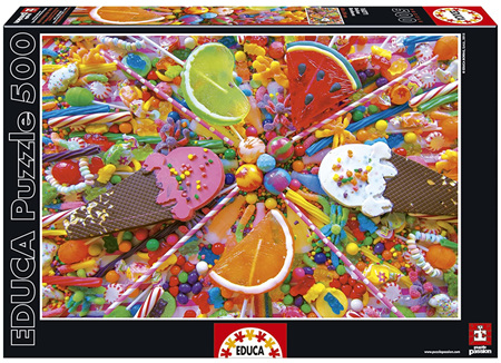 Educa 500 Piece Jigsaw Puzzle:  Sweets
