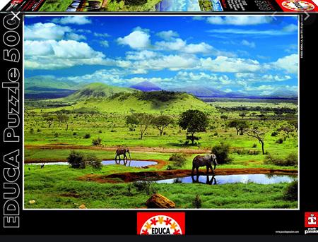 Educa 500 Piece Jigsaw Puzzle:  Tsavo National Park Kenya