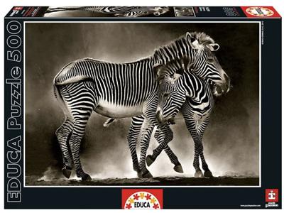 Educa 500 Piece Jigsaw Puzzle: Zebras