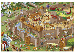 Educa 1000 Piece Jigsaw Puzzle Middle Ages