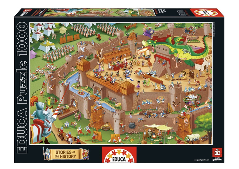 Educa ES16343 1000 piece jigsaw puzzle Middle Ages buy at www.puzzlesnz.co.nz