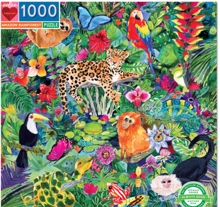 eeBoo 1000 Piece Jigsaw Puzzle: Amazon Rainforest