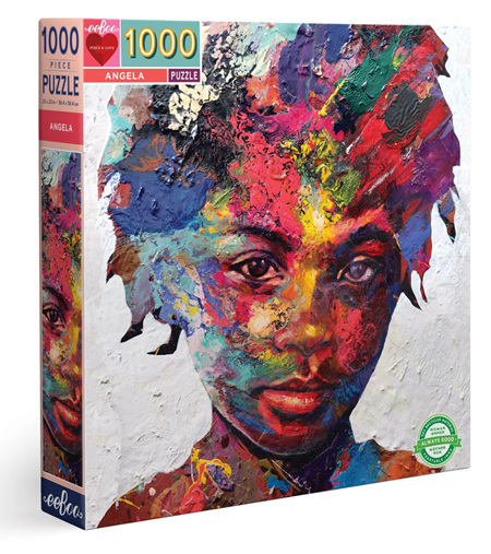 eeBoo 1000 Piece Jigsaw Puzzle: Angela