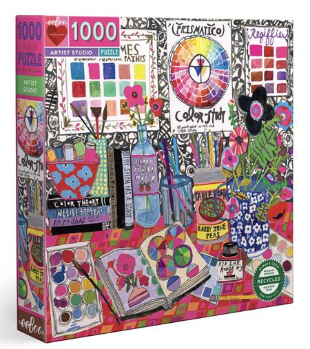 eeboo 1000 Piece Jigsaw Puzzle: Artist Studio