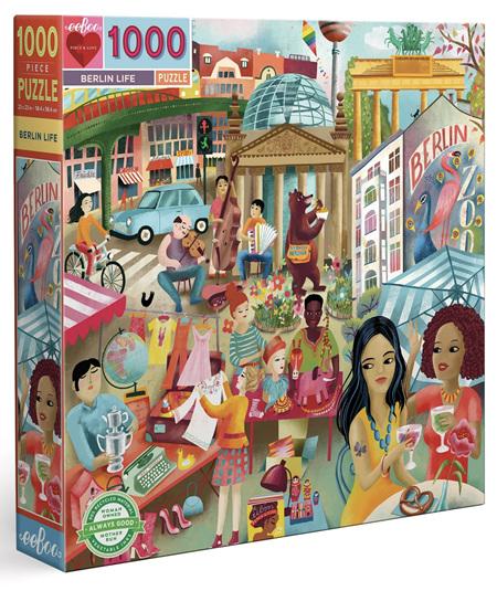 eeboo 1000 Piece Jigsaw Puzzle: Berlin Life